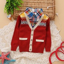 There are clothes spring boys holiday two cardigan sweater School children wind lapel single-breasted sweater