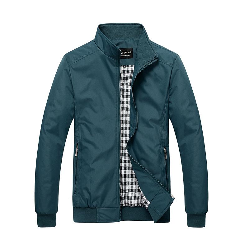 海澜之家休闲男装薄款青年外套春秋装男士夹克修身立领韩版夹克衫