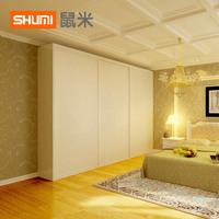 鼠米衣柜柜子实木推拉门木质定制整体组合卧室移门简约现代经济型