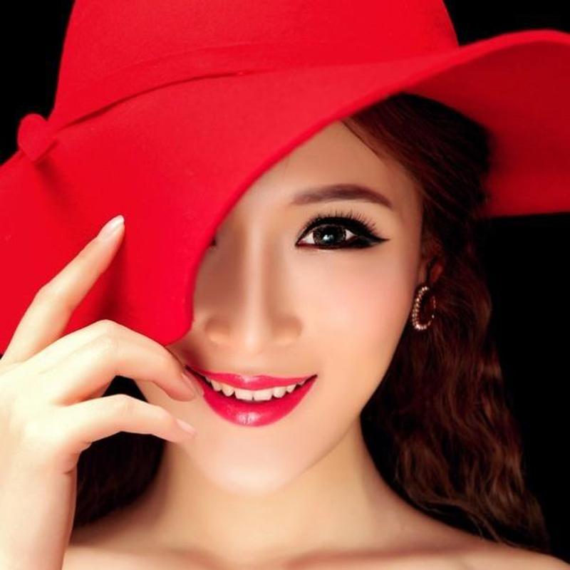 帽子女英伦复古礼帽出游逛街大檐帽休闲百搭圆顶帽韩版遮阳沙滩帽