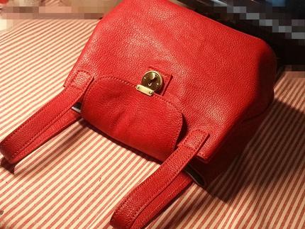 【十一月福利】【空呗】 纯手缝羊皮 手提斜跨两用包 水桶包