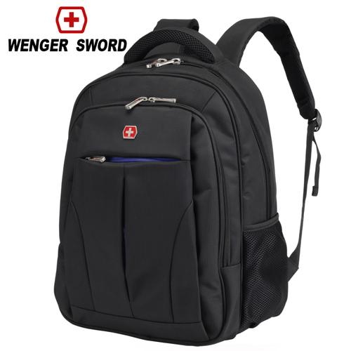 瑞士军刀双肩包男商务防水背包学生书包15寸电脑包牛津布旅行包软图片