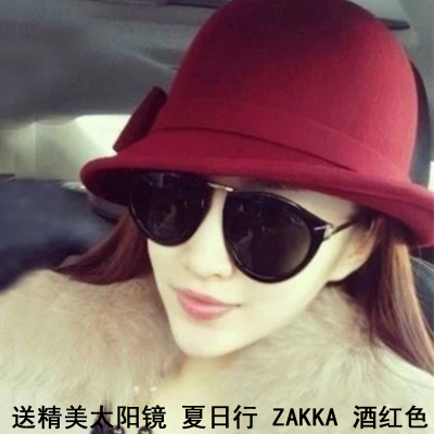 Small pepper Korean wool hat millinery hat autumn and winter 2014 Korean winter hat bucket hats ladies hats