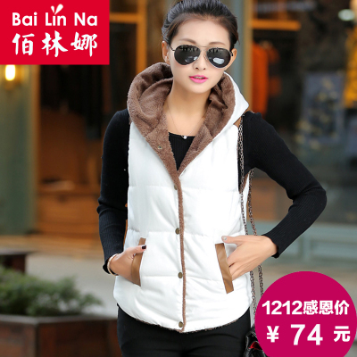 2014 Winter new Women Korean Slim thick warm cotton vest vest vest fashion casual jacket