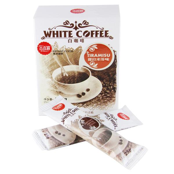 【天猫超市】马来西亚进口G-KALLY吉克莉速溶白咖啡提拉米苏 250g