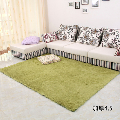 Silky thick carpet buying the phone pad bedroom living room coffee table, bedside carpet slip mats doormat Specials