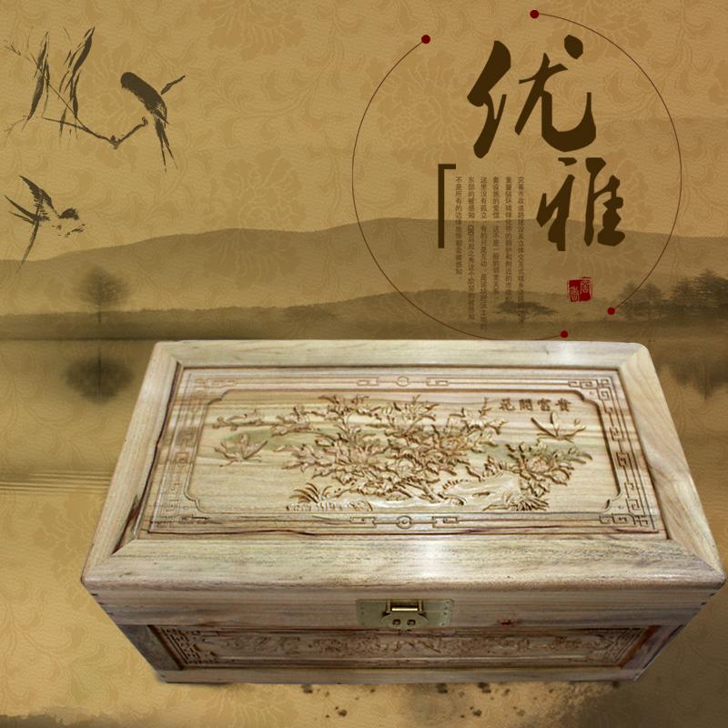 樟树箱 香樟木箱子 嫁妆箱 结婚箱 实木箱子 新古典家具 婚嫁箱