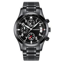 卡诗顿 新款男士多功能时尚商务石英表三眼日历 运动夜光手表