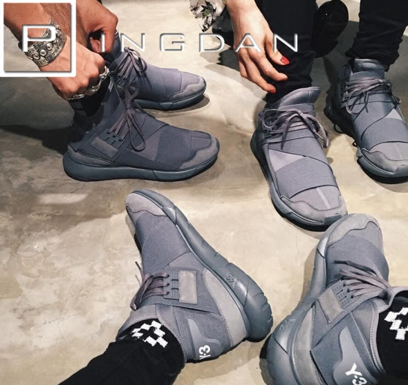 平淡鞋店 Y3 Y-3 Qasa High Grey 2016秋冬款 灰武士忍者 BB4734