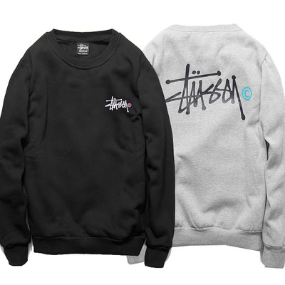 American tide brand stussy stu west joint clot fleece Chen pure color contracted men and women add wool coat
