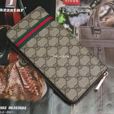 New men in Europe and America tide retro cool odd wallet Large Zip Clutch Korean fashion lady wallet wallet