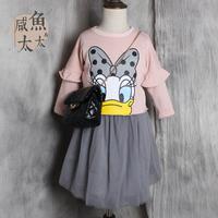 2015新款儿童卫衣 Daisy卡通亲子上衣 中小童原宿卫衣 潮