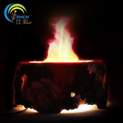 Shi-color Halloween decorations desktop simulation stage props dance bar resin flame lamp lights basin