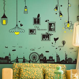 欧式创意壁纸宿舍墙贴纸自粘墙上墙面房间装饰品墙纸贴画卧室照片