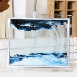 创意沙漏摆件卧室办公室客厅生日礼物礼品装饰品沙漏动景3D流沙画