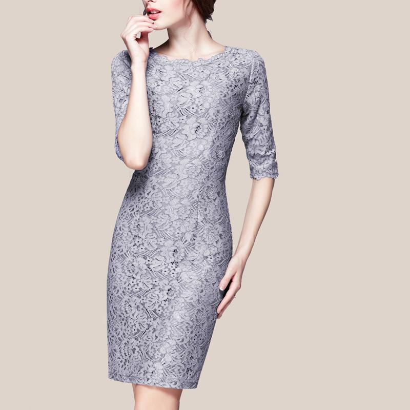 欧洲站2016新款夏装包臀OL显瘦韩版高端短袖蕾丝连衣裙女大码女装
