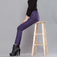 包邮 2015白鸭绒双面高腰羽绒裤女棉裤可脱卸铅笔裤修身显瘦加厚
