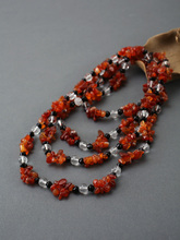 Ms pratibha personality bump color agate necklace