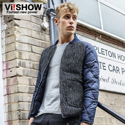 viishow Men's 2014 new men's winter jacket coat jacket warm coat splicing