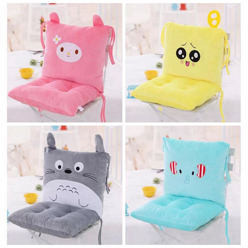 韩版卡通靠垫坐垫一体 办公室可爱腰枕大号 坐椅垫护腰靠枕靠背