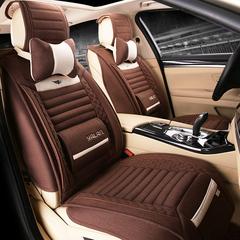 汽车坐垫四季通用全包座垫夏专用现代进口Veloster飞思索纳塔