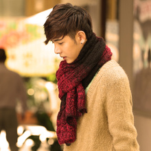 South Korean star with collar new men the stylish twist color matching club tide male stylist joker scarf