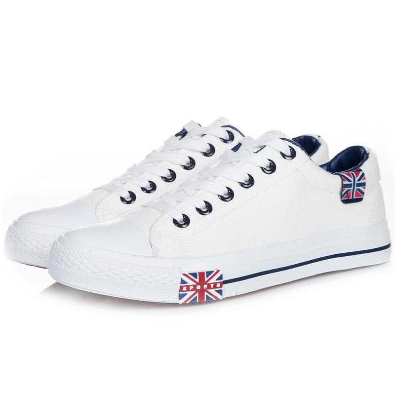 2015新款夏帆布鞋女情侣鞋低帮平底韩版休闲鞋学生潮鞋子白色板鞋