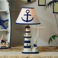 地中海台灯卧室儿童床头护眼学习装饰台灯灯具卧室台灯装饰台灯