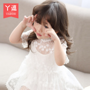 女童连衣裙夏装20182小女孩蕾丝儿童3女宝宝夏季公主裙子1岁