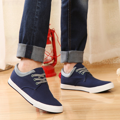Back to the days of 2015 new Korean version of casual shoes comfortable personality wild Slim boys canvas shoes to help low tide shoes