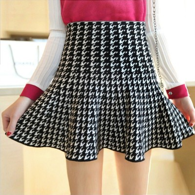 2014 Korean version of the fall and winter thick knit pleated skirts tutu skirt umbrella skirt waist A-line dress bottoming female
