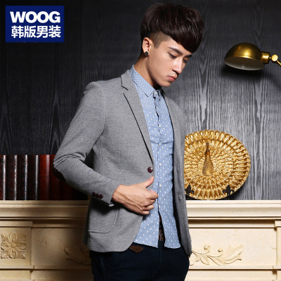 WOOG2005 Korean men 2014 Hitz men's gray suit tide Slim leisure suit jacket