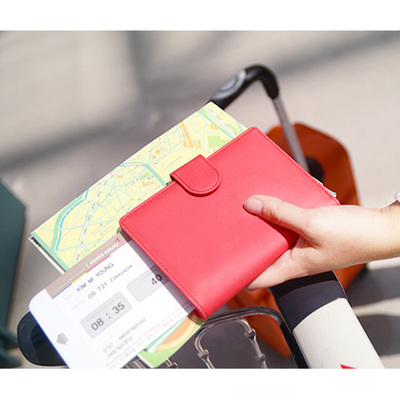 Travel Passport Wallet multifunction jamstudio buckle authentic Korean lady bow documents package