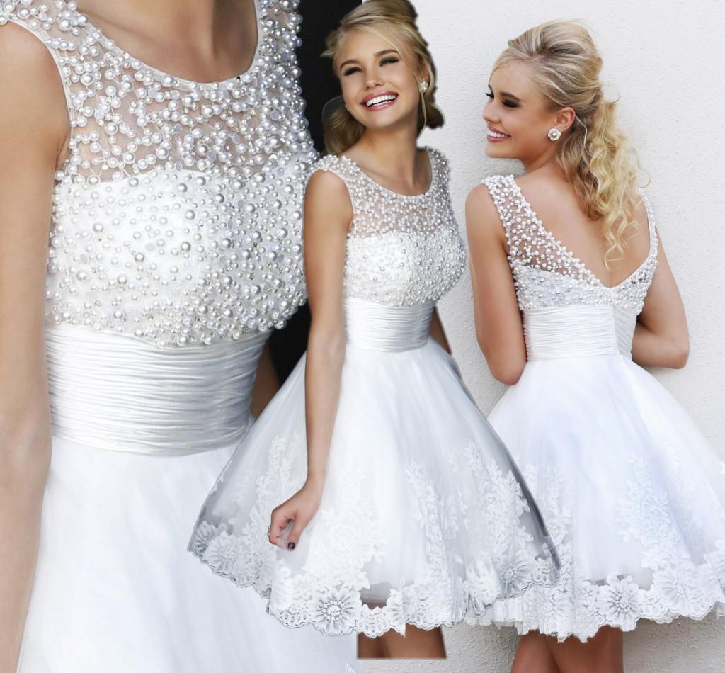 Поджаривания 2014 новые Свадебные платья Свадебные платья платье невесты короткие платье жемчужина рюкзак почты