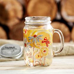 爱屋格林公鸡杯带盖创意玻璃水杯梅森杯子啤酒杯玻璃杯大容量0.8L