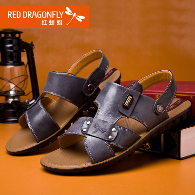 Red Dragonfly men sandals 2014 summer new authentic men's breathable men's casual sandals slippers