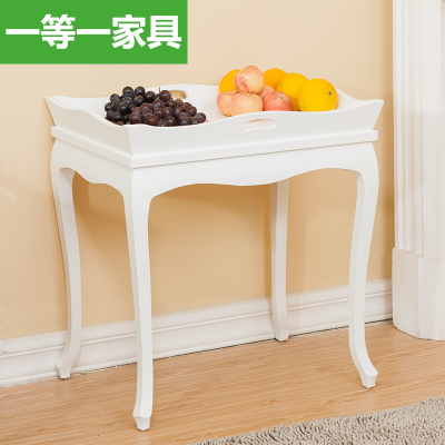 A first-class furniture wood coffee table Zhuojiao American pastoral side table fashion casual tea table negotiating table
