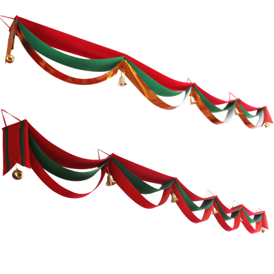 BIBIC New Year Spring Festival decorations wavy flag scene decorative red and gold banners hanging flags