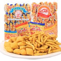怀旧零食大礼包爱尚咪咪虾条40包薯条80后休闲膨化年货食品批发
