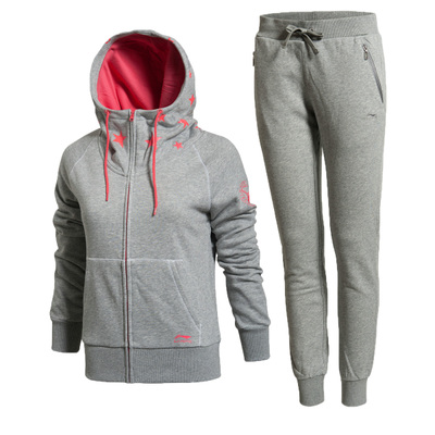 2014 new authentic Li Ning sports suit sweater woman AWDJ294-1-3 Wei pants AKLJ366-1-2