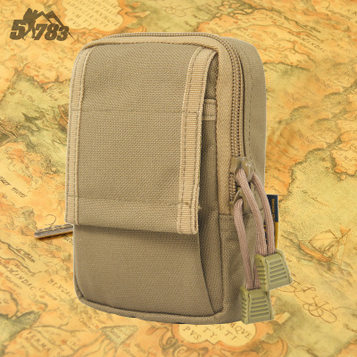 51783 Army fans Tactical MOLLE kit bag phone package ground tactical military fans mini purse phone package