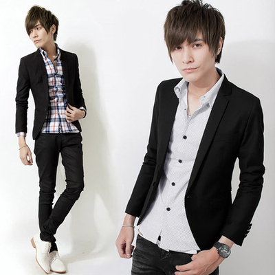 2014 new autumn men's casual suit men's Slim jacket teenagers England Small suit male Korean tidal