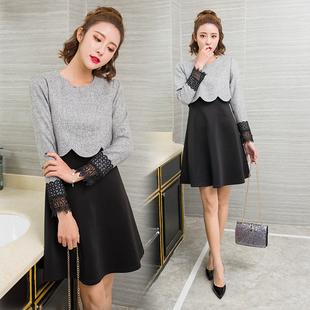 娜娜女王 小G家春装韩国假两件连衣裙零售至少加价以上梦