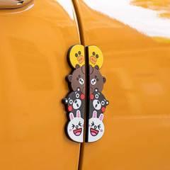 汽车饰品可爱卡通车门防撞条车用门边硅胶防撞贴防刮蹭开门防擦条