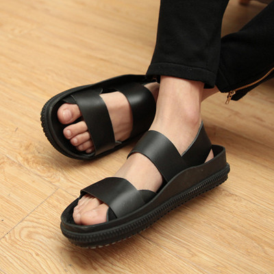 Free shipping 2014 new male personality tide summer sandals Roman sandals male beach sandals Korean men's shoes