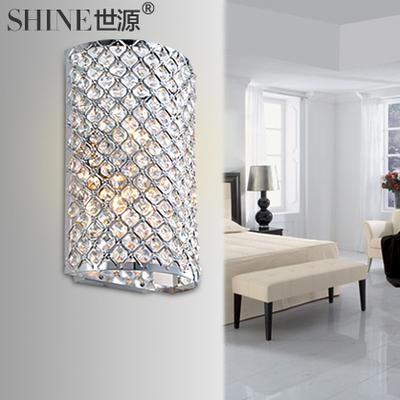 World source LED bedside lamp creative modern luxury sparkling crystal wall lamp bedroom lamp restaurant lighting decoration 1004