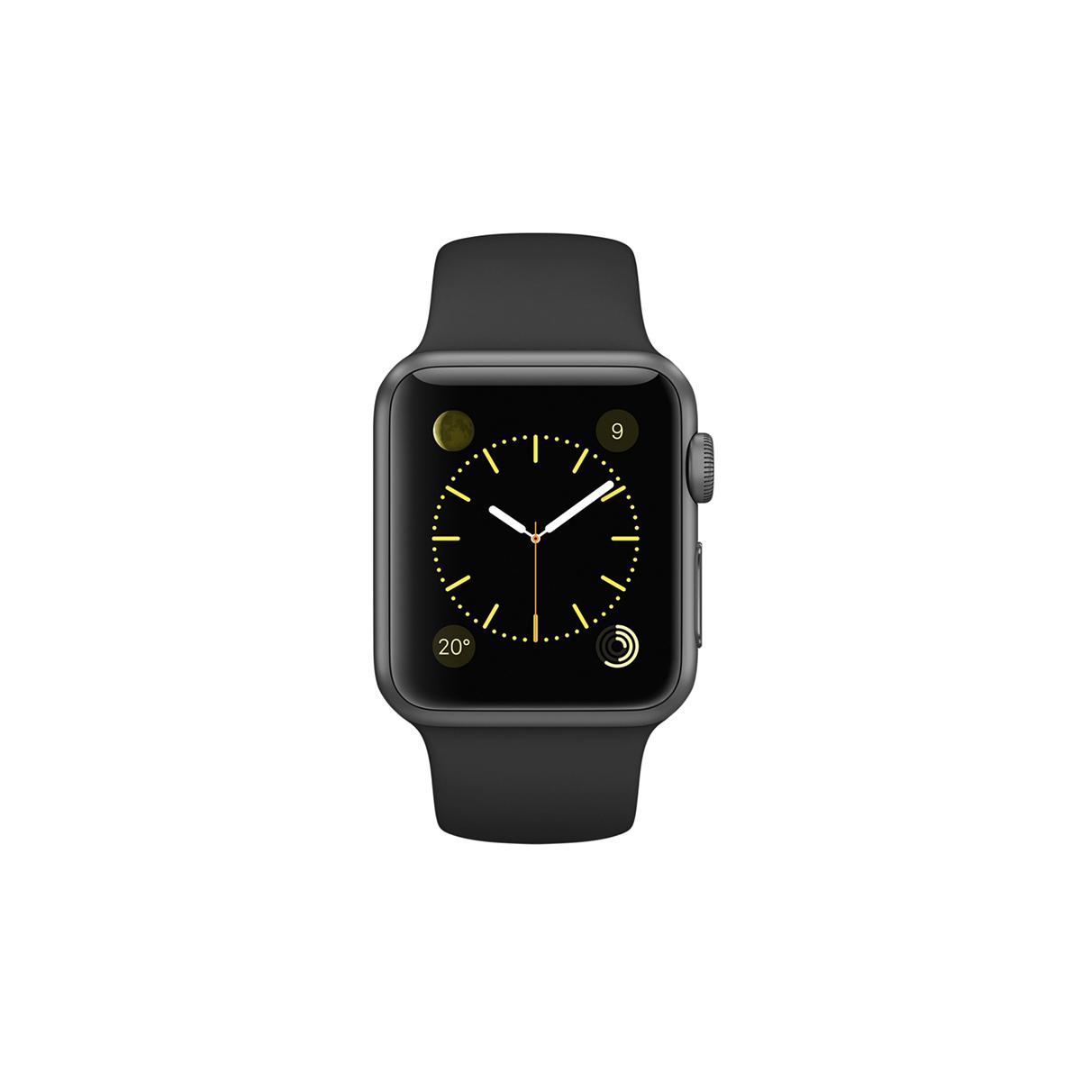 Apple/苹果 Apple Watch 深空黑色铝金属表壳搭配黑色运动型表带