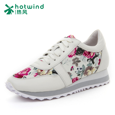 Shallow mouth shoes hot new fall 2014 national wind printing ladies lace shoes 61F4717