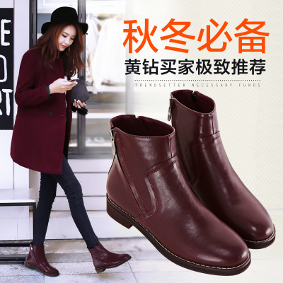 Azeri get good 40-43 yards boots Martin boots winter influx of women's shoes plus velvet boots with flat shoes 414243