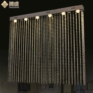 腾盛LED水晶灯长方形隔断灯珠帘水晶吊灯装饰灯客厅餐厅灯饰